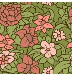 Seamless hand-drawn retro texture for your design vector image vector image