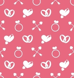 Seamless Wallpaper for Valentines Day or Wedding vector image vector image