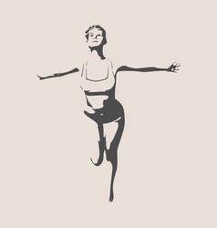 beautiful happy woman vector image vector image