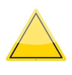 Blank Warning Sign vector image