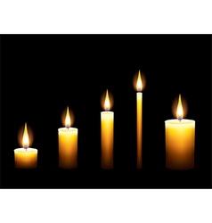candles dark background vector image