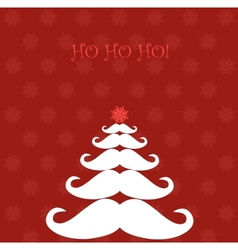Christmas tree made of Santas moustaches vector image