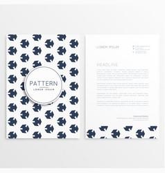 Clean minimal letterhead template design vector