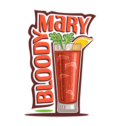 cocktail bloody mary vector image