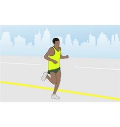 marathon runner vector image vector image