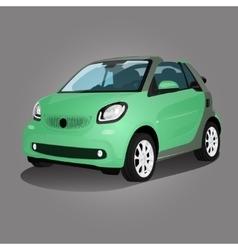 Printgreen compact vehicle vector image vector image