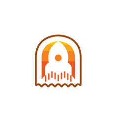 rocket icon isolated on white background new vector image