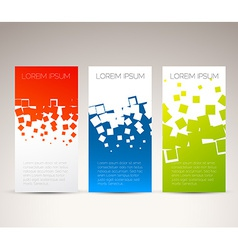 Simple colorful vertical banners vector image