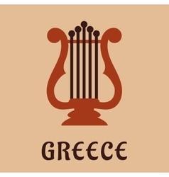 Ancient greek lyre culture symbol vector image vector image