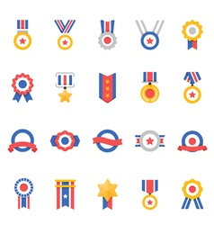Badge Awards color icons vector image vector image