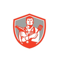 Jack of All Trades Crest Retro vector image vector image