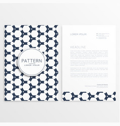 letterhead design with pattern as backdrop vector image vector image