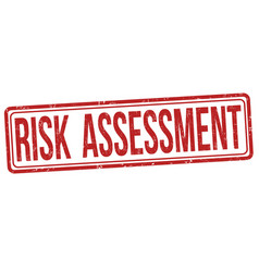 Risk assessment grunge rubber stamp vector