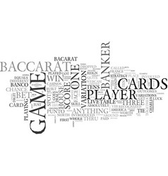 What is live dealer baccarat and how it is played vector