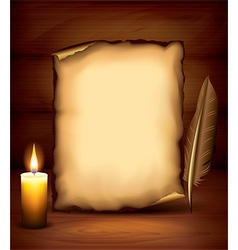 candle paper dark background vector image