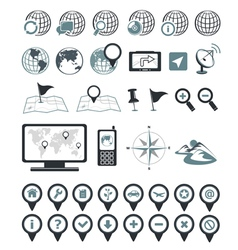 Location and destination icons vector image vector image