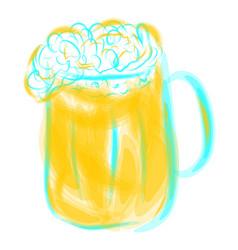 mug of light beer vector image