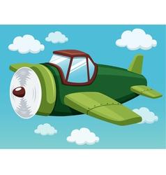 Plane on sky vector image