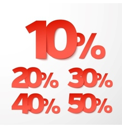 Sale percents Paper style vector image