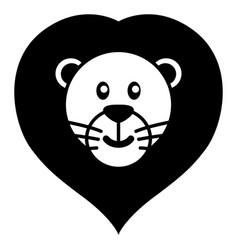 simple cartoon of a cute lion vector image vector image