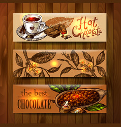 sketch chocolate vector image vector image