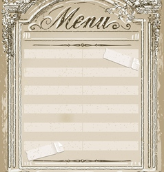 Vintage Graphic Page for Restaurant Menu vector image