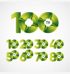 100 th anniversary celebrations green gradient vector