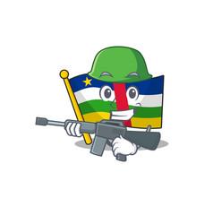 A cartoon style flag central african army vector