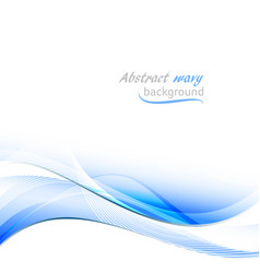 Abstract background with blue wavy pattern and vector