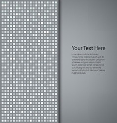 Abstract gray square background vector
