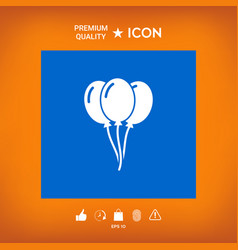 Balloons symbol icon vector