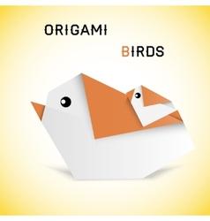 Birds origami vector