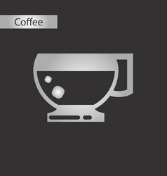 Black and white style icon coffee cup vector