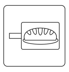 Bread baking icon outline vector