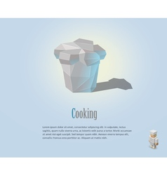 chef hat cooking cap vector image