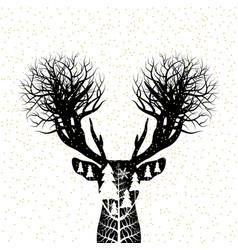 Christmas concept design of reindeer vector