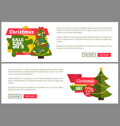 christmas sale buy now posters vector image