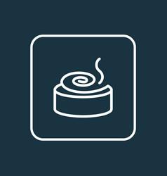 cinnamon roll icon line symbol premium quality vector image