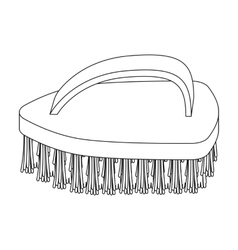 Cleaning brush icon in outline style isolated on vector image
