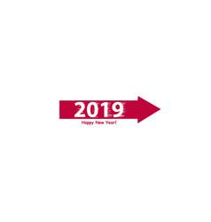 creative happy new year 2019 design flat design vector image