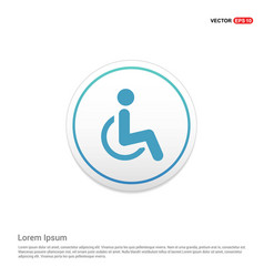 Disabled person icon hexa white background icon vector