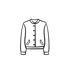 Fashion jacket hand drawn sketch icon vector