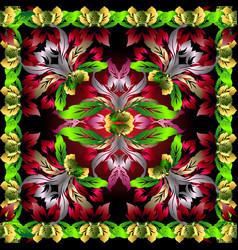 floral ornamental 3d pattern patterned vector image
