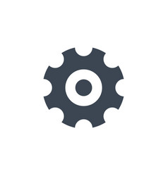 Gear related glyph icon vector