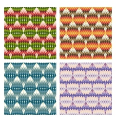 geometric multicolor seamless pattern vector image