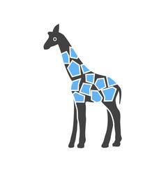 Giraffe animal wildlife vector