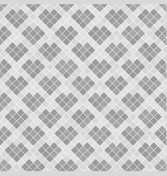 Gray diamond pattern with hearts seamless vector