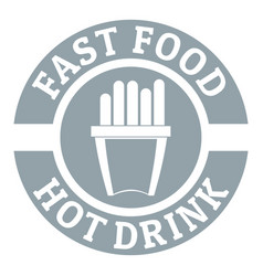 hot drink logo simple gray style vector image