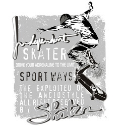 independent skater vector image