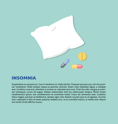 Insomnia concept in flat style with vector